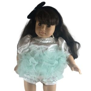 """Green/White Tulle Dress Fit American Girl Doll 18"""""""